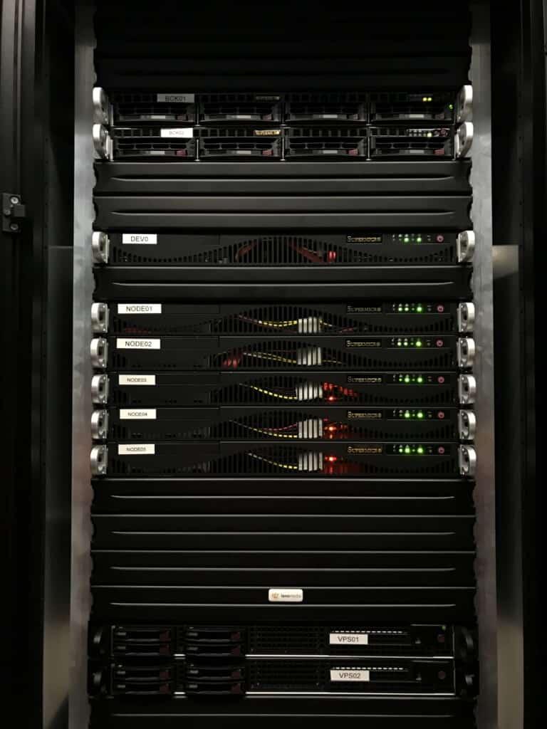 Nieuw rack in Dataplace Nedzone