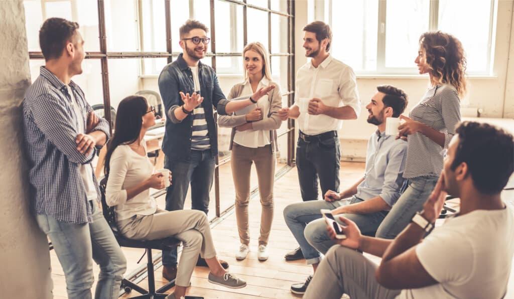 Chattend samenwerken in een online tool